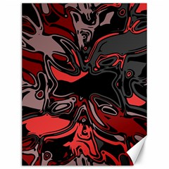 Red Black Grey Abstract Art Canvas 12  X 16