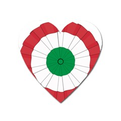National Cockade Of Italy Heart Magnet by abbeyz71