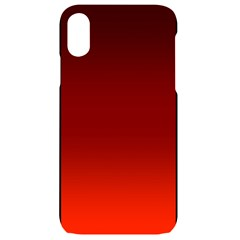 Scarlet Red Ombre Gradient Iphone Xr Black Uv Print Case