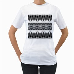 Boho Black And White  Women s T-shirt (white)