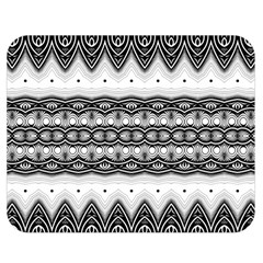 Boho Black And White  Double Sided Flano Blanket (medium)  by SpinnyChairDesigns