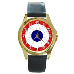 National Cockade Of France  Round Gold Metal Watch by abbeyz71