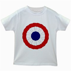 National Cockade Of France  Kids White T-shirts by abbeyz71