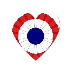 National Cockade Of France  Heart Magnet by abbeyz71
