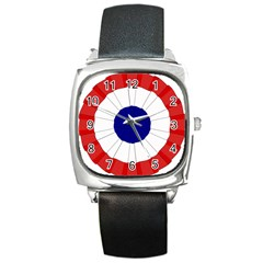 National Cockade Of France  Square Metal Watch by abbeyz71