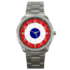 National Cockade Of France  Sport Metal Watch by abbeyz71