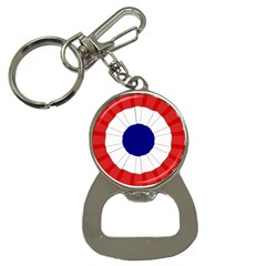 National Cockade Of France  Bottle Opener Key Chain by abbeyz71