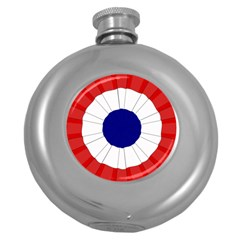 National Cockade Of France  Round Hip Flask (5 Oz) by abbeyz71
