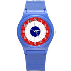 National Cockade Of France  Round Plastic Sport Watch (s) by abbeyz71
