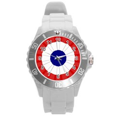 National Cockade Of France  Round Plastic Sport Watch (l) by abbeyz71