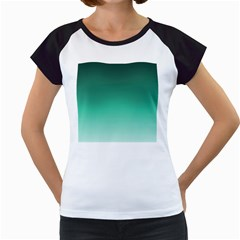 Biscay Green Gradient Ombre Women s Cap Sleeve T by SpinnyChairDesigns