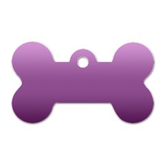Purple Gradient Ombre Dog Tag Bone (one Side)