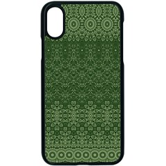 Boho Fern Green Pattern Iphone X Seamless Case (black)