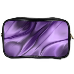 Purple Abstract Art Toiletries Bag (two Sides)