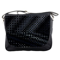 Black Abstract Pattern Messenger Bag