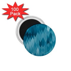 Cerulean Blue Geometric Patterns 1 75  Magnets (100 Pack)  by SpinnyChairDesigns