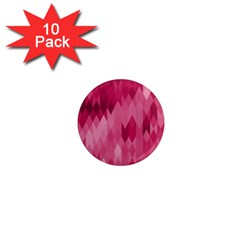 Blush Pink Geometric Pattern 1  Mini Magnet (10 Pack)