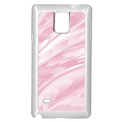 Pastel Pink Feathered Pattern Samsung Galaxy Note 4 Case (white) by SpinnyChairDesigns