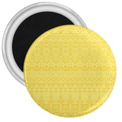 Boho Saffron Yellow Color 3  Magnets by SpinnyChairDesigns