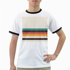 Classic Retro Stripes Ringer T by tmsartbazaar
