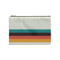 Classic Retro Stripes Cosmetic Bag (medium) by tmsartbazaar