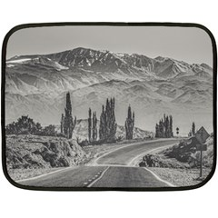 Deserted Landscape Highway, San Juan Province, Argentina Fleece Blanket (mini)