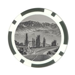 Deserted Landscape Highway, San Juan Province, Argentina Poker Chip Card Guard (10 Pack)