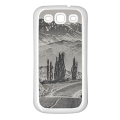 Deserted Landscape Highway, San Juan Province, Argentina Samsung Galaxy S3 Back Case (white) by dflcprintsclothing