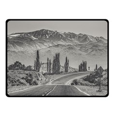 Deserted Landscape Highway, San Juan Province, Argentina Double Sided Fleece Blanket (small)