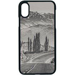 Deserted Landscape Highway, San Juan Province, Argentina Iphone X Seamless Case (black)