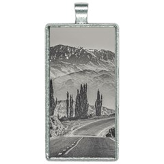 Deserted Landscape Highway, San Juan Province, Argentina Rectangle Necklace