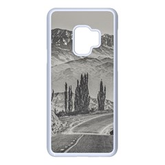 Deserted Landscape Highway, San Juan Province, Argentina Samsung Galaxy S9 Seamless Case(white)