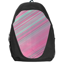 Turquoise And Pink Striped Backpack Bag
