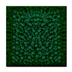 Leaf Forest And Blue Flowers In Peace Face Towel