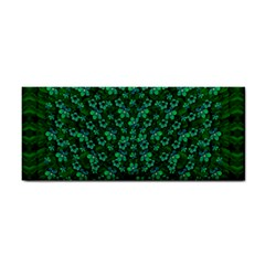 Leaf Forest And Blue Flowers In Peace Hand Towel