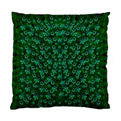 Leaf Forest And Blue Flowers In Peace Standard Cushion Case (one Side)