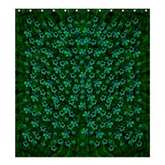 Leaf Forest And Blue Flowers In Peace Shower Curtain 66  X 72  (large)