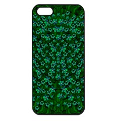 Leaf Forest And Blue Flowers In Peace Iphone 5 Seamless Case (black)
