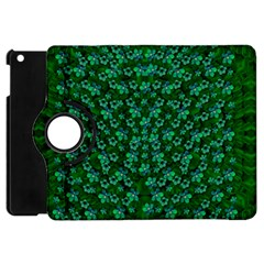 Leaf Forest And Blue Flowers In Peace Apple Ipad Mini Flip 360 Case
