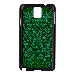 Leaf Forest And Blue Flowers In Peace Samsung Galaxy Note 3 N9005 Case (black)