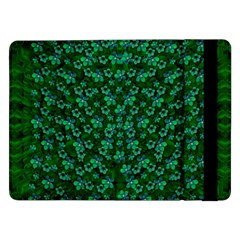 Leaf Forest And Blue Flowers In Peace Samsung Galaxy Tab Pro 12 2  Flip Case