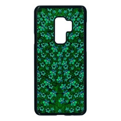 Leaf Forest And Blue Flowers In Peace Samsung Galaxy S9 Plus Seamless Case(black)