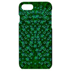 Leaf Forest And Blue Flowers In Peace Iphone 7/8 Black Uv Print Case