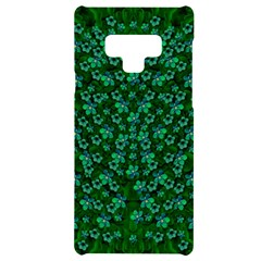 Leaf Forest And Blue Flowers In Peace Samsung Note 9 Black Uv Print Case