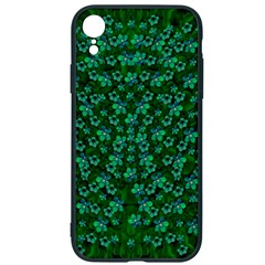 Leaf Forest And Blue Flowers In Peace Iphone Xr Soft Bumper Uv Case