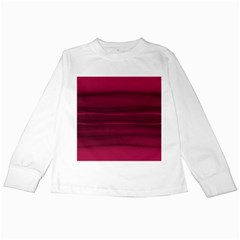 Dark Rose Pink Ombre  Kids Long Sleeve T-shirts