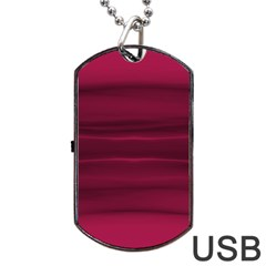 Dark Rose Pink Ombre  Dog Tag Usb Flash (one Side)
