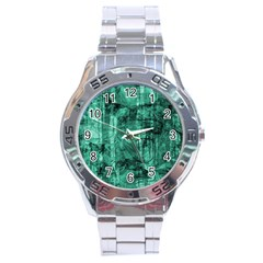 Biscay Green Black Textured Stainless Steel Analogue Watch