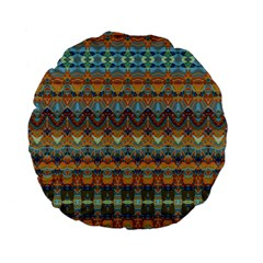 Boho Earth Colors Pattern Standard 15  Premium Flano Round Cushions
