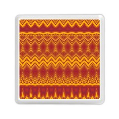 Boho Red Gold Pattern Memory Card Reader (square)